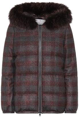 Brunello Cucinelli Fur-trimmed wool jacket