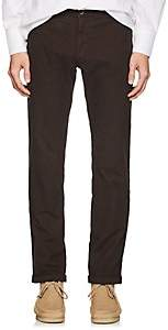 Barena Venezia Men's Cuffed Cotton-Blend Skinny Trousers-Rust