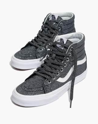 Madewell Vans Unisex SK8-Hi Reissue High-Top Sneakers in Black Glitter