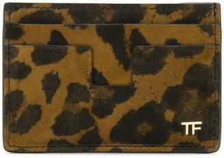 Tom Ford leopard T Line cardholder