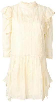 Etoile Isabel Marant ruffled pompom mini dress
