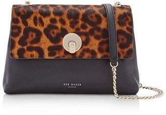 Ted Baker Luccie Leopard Print Leather Crossbody