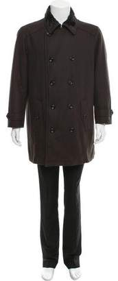Armani Collezioni Double-Breasted Virgin Wool Coat