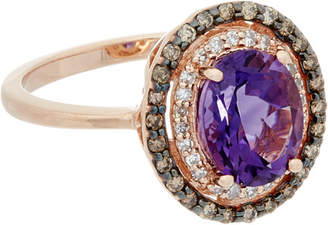 Effy Fine Jewelry 14K Rose Gold 1.82 Ct. Tw. Diamond & Amethyst Ring