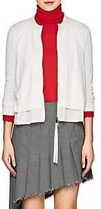 Moncler Women's Fine Gauge-Knit Zip-Front Cardigan - White