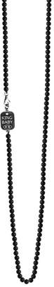 King Baby Studio Onyx Bead Necklace