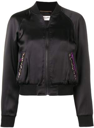 Saint Laurent zipped bomber jacket