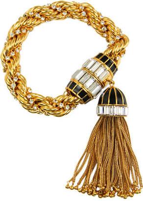 Rachel Zoe Rope Bracelet With Tassel Drop