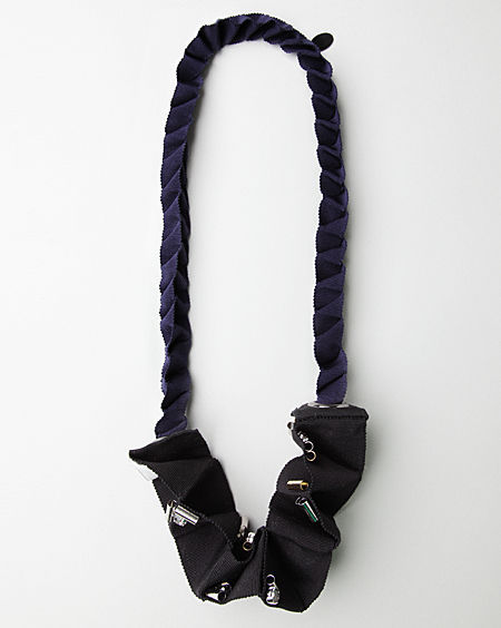 3.1 Phillip Lim / Beaded Origami Fold Necklace