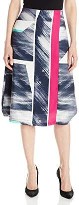 Ellen Tracy Women's Midi a-Line Skirt