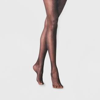 A New Day Women's Clean Herringbone Tights Black