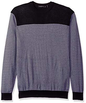 Bugatchi Men's Mini Stripe Crew Sweater
