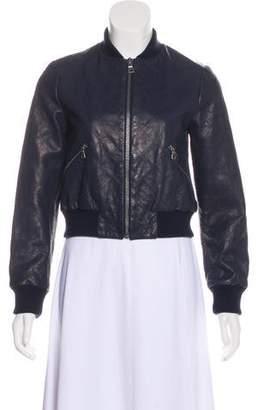 Alice + Olivia Varsity Leather Jacket