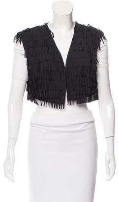 Armani Jeans Crop Fringe Vest w/ Tags