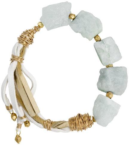 Nashelle Found Raw Aqua Bracelet