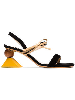 Jacquemus multicoloured Les Sandales Valparaiso 60 suede sandals