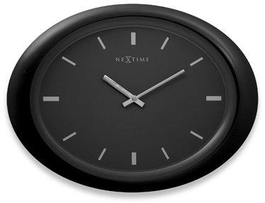 Oval Black Wall Clock
