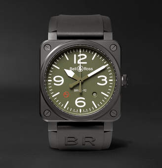 Bell & Ross Br 03-92 Military Type 42mm Ceramic And Rubber Watch