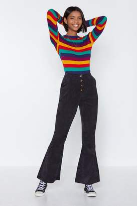 Nasty Gal Would You Flare to Join Me Corduroy Pants