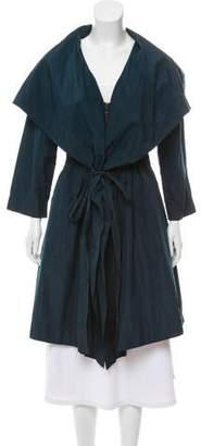 Lanvin A-Line Zip-Up Coat