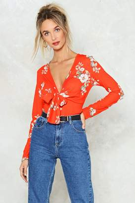 Nasty Gal All That She Wants Floral Top
