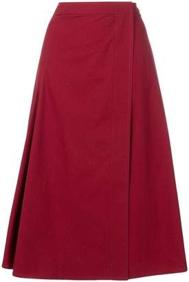 Lemaire pleat detail A-line skirt