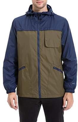 Co Trailside Supply Men's Water-Resistant Jacket Front-Zip Hooded windbreaker