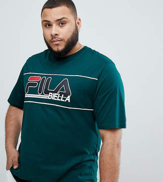 Fila t-shirt with retro panel logo in green