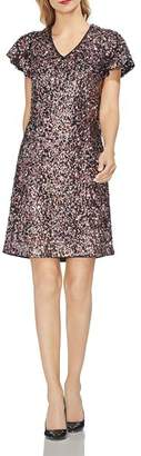 Vince Camuto Multicolored Sequin Dress