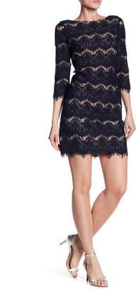 Eliza J Illusion Lace Shift Dress