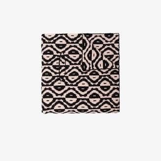 Dries Van Noten black Madagaska yinyang wool scarf
