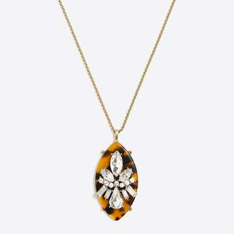 J.Crew Factory Tortoise marquise pendant necklace