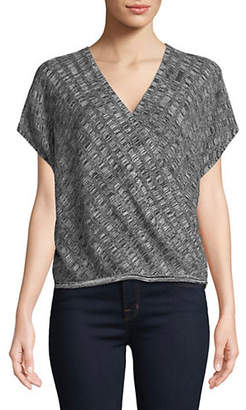 Eileen Fisher Silk-Linen Blend Surplice Top