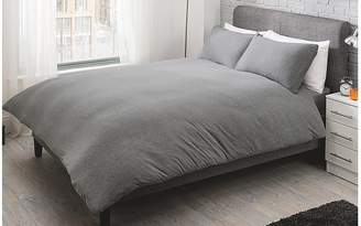 At George @ ASDA · George Home Grey Jersey Bed Duvet Set