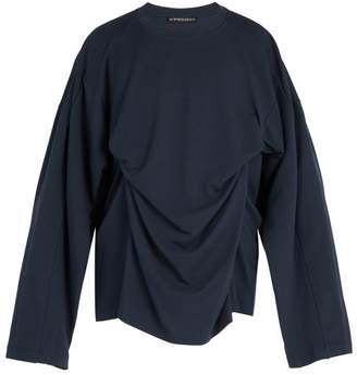 Y/Project Double Layer Modal And Cotton Blend Top - Mens - Navy