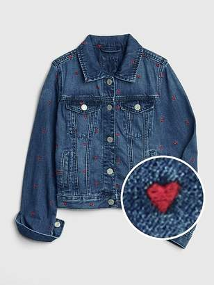 Gap Icon Heart Denim Jacket