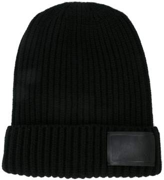 Y's ribbed beanie hat
