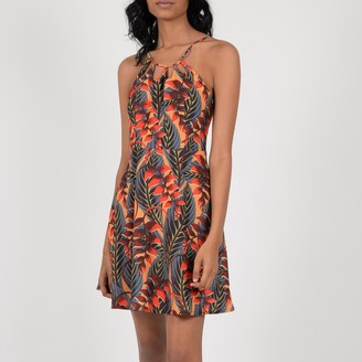 Molly Bracken Graphic Print Short Flared Dress