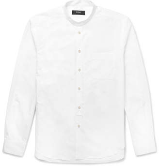 Helbers - Grandad-Collar Cotton-Poplin Shirt