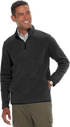 Croft & Barrow Men's Classic-Fit Textured Fleece Quarter-Zip Pullover Sweater