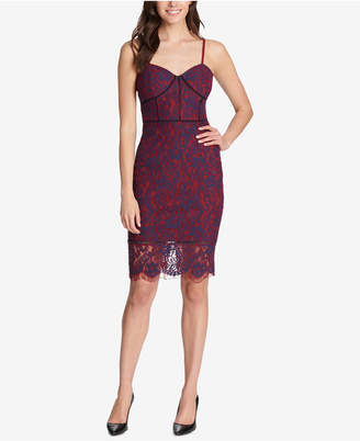 GUESS Lace Corset Bodycon Dress