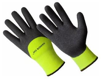 HANDS ONTM CD9455-L, Premium Lined Sandy Finish Nitrile Coated Glove