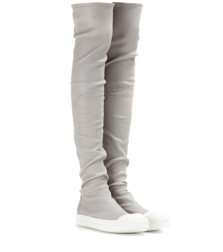 Rick Owens Leather over-the-knee boots