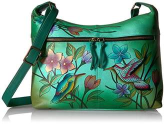 Anuschka Anna by Handpainted Leather Women's Shoulder Bag