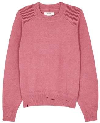Etoile Isabel Marant Kalia Pink Distressed Knitted Jumper