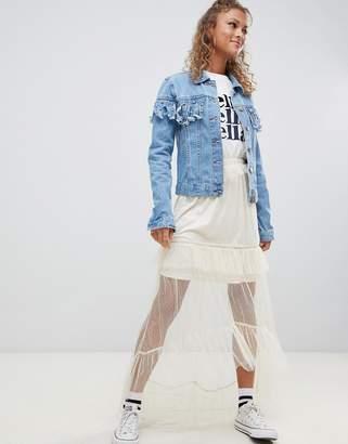 Glamorous mesh maxi skirt