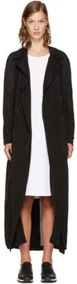 McQ Black Transparent Long Coat
