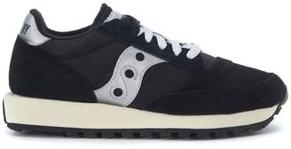 Saucony Sneaker Jazz In Black Suede And Nylon