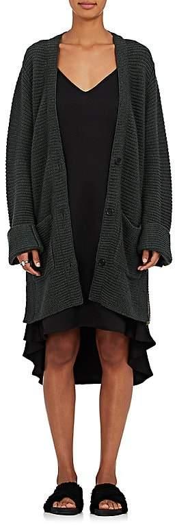 Public School Women's Rib-Knit Merino Wool-Blend Oversized Cardigan