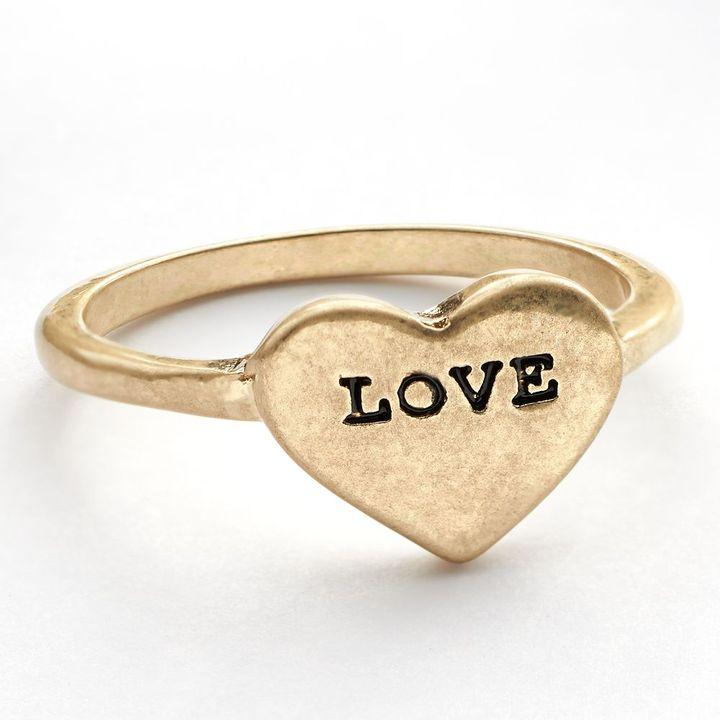 "Lauren Conrad love"" heart ring"